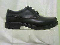 Mens Clarks Lace Up Casual Shoe, Leather, Black, Lair Task