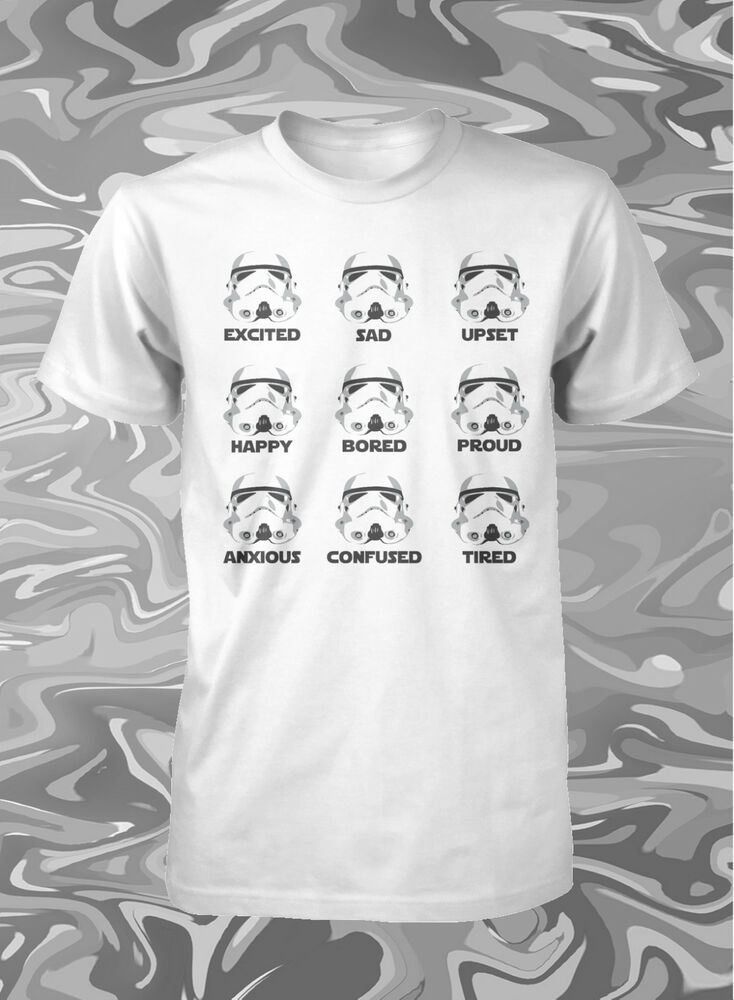 star wars shirt funny stormtrooper shirt jedi shirt star wars use the force tee ebay. Black Bedroom Furniture Sets. Home Design Ideas