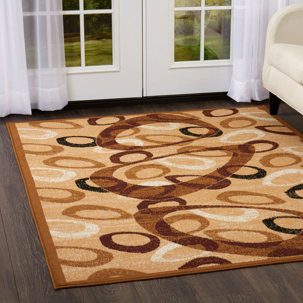 Ultra Sleek Sand Beige Modern Area Rug 6x8 Contemporary