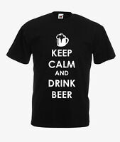 KEEP CALM AND DRINK BEER  funny slogan t-shirt