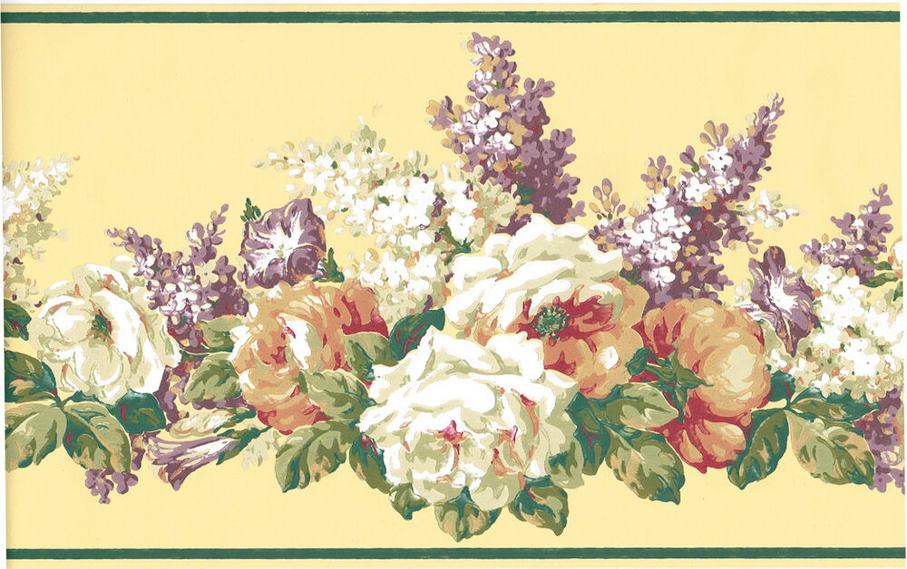 Victorian White Cabbage Rose Lilac Flower Floral Cream