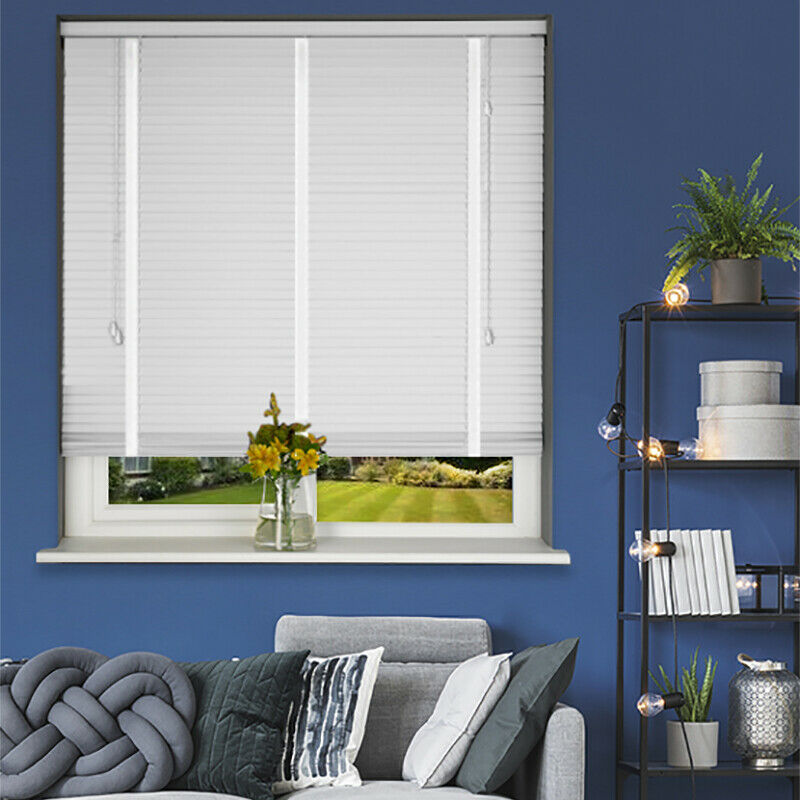 White Wood Venetian Blind With Tape 50mm Slats Made To