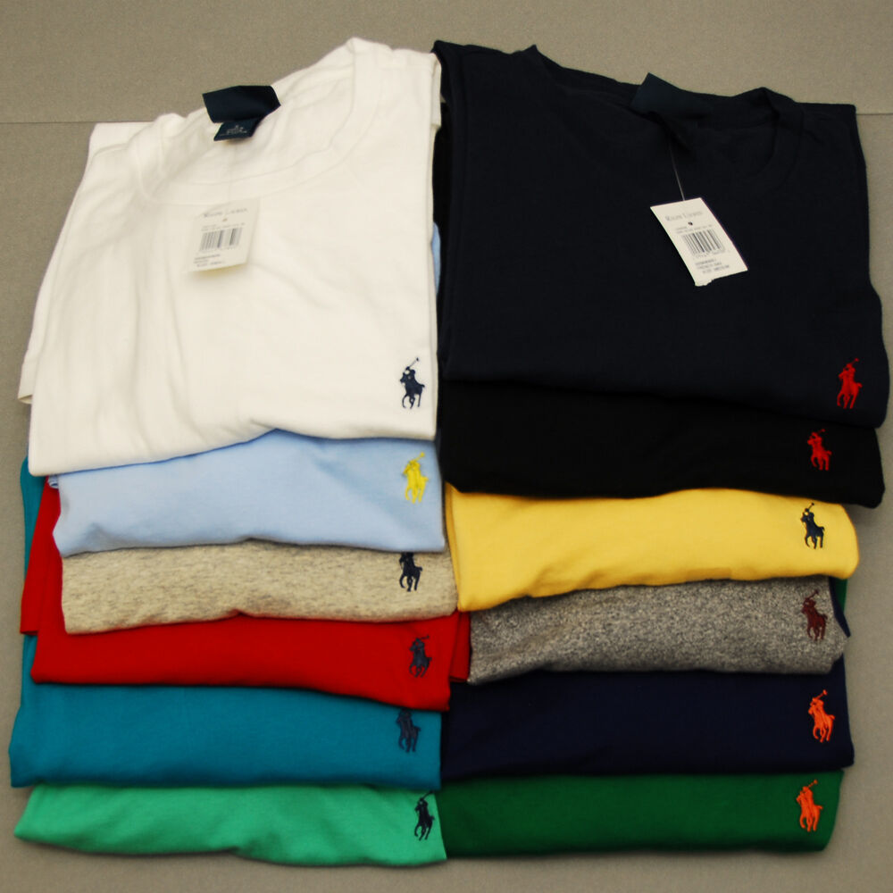 polo ralph lauren wholesale resale lot of 25 crew neck t shirt nwt pony logo ebay. Black Bedroom Furniture Sets. Home Design Ideas