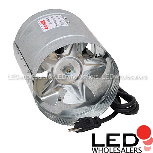 Heating Duct Booster Fans : Inline booster fan quot  cfm high flow