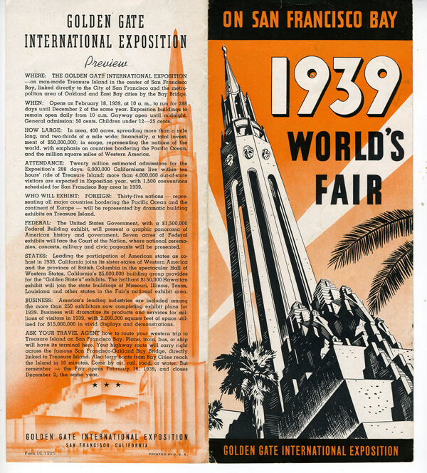 1939 art deco ggie world 39 s fair brochure on san francisco for Art et decoration 1939