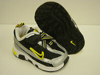 NEW Infant Toddler Sz 5 C NIKE T-Run 2 Alt Black Yellow Sneakers Shoes NO LID