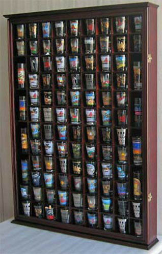 Large Shadow Box Wall Cabinet To Hold 100 Shot Glasses 1