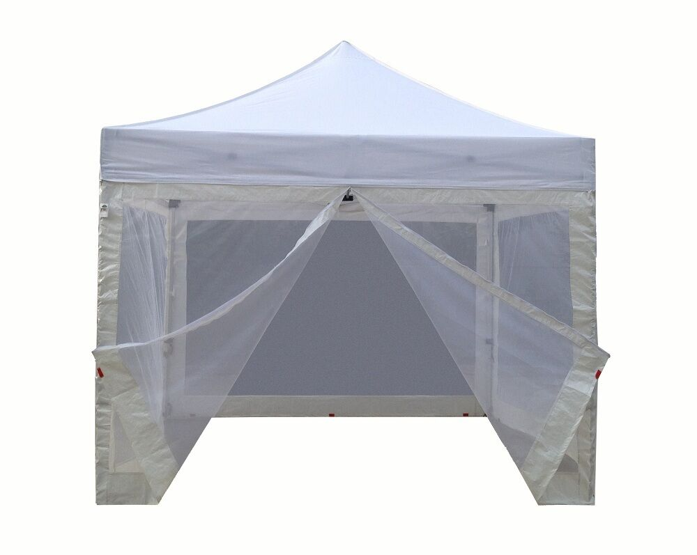 10x10 Canopy With Walls : New ez pop up canopy tent with screen walls and