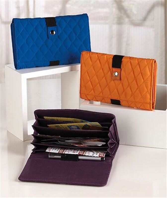 QUILTED COUPON ORGANIZER WALLET W/6 SEPARATE COMPARTMENTS ...