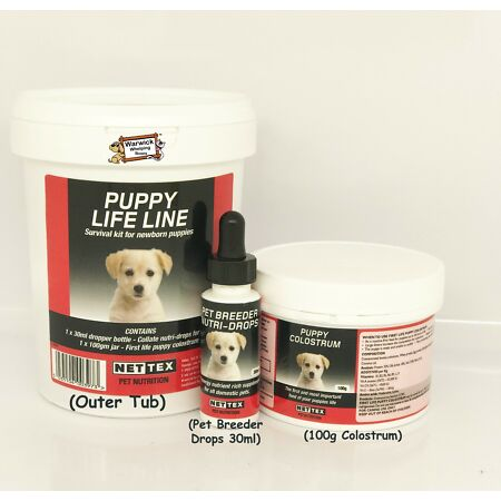 img-Nettex Nutri drops col-late Life Line Puppy Survival Kit Whelping Colostrum