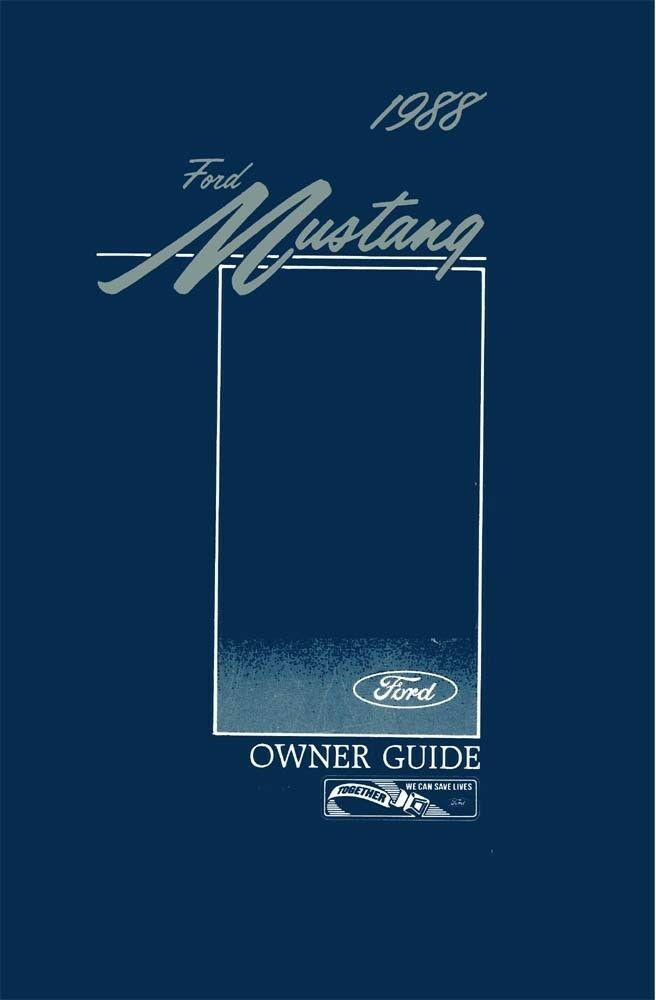 ford mustang owners manual user guide reference
