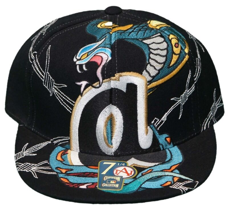 Flatbill Fitted Hat- Embroidered Cap