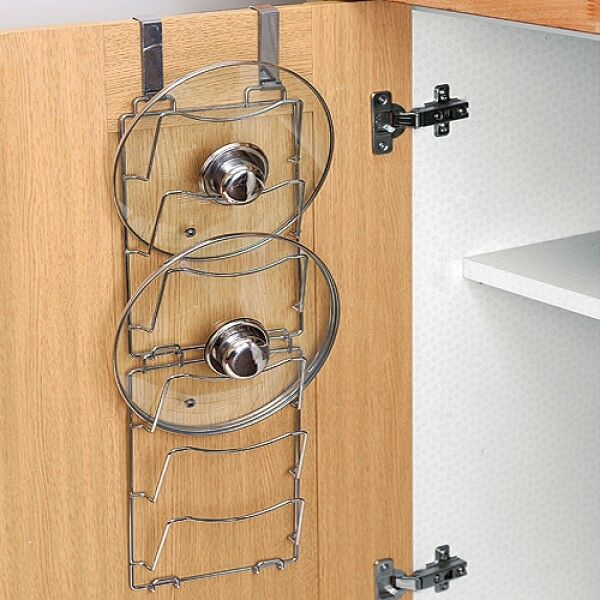 Over Door Lid Storage Pan Lid Storage Rack X 2 Kitchen