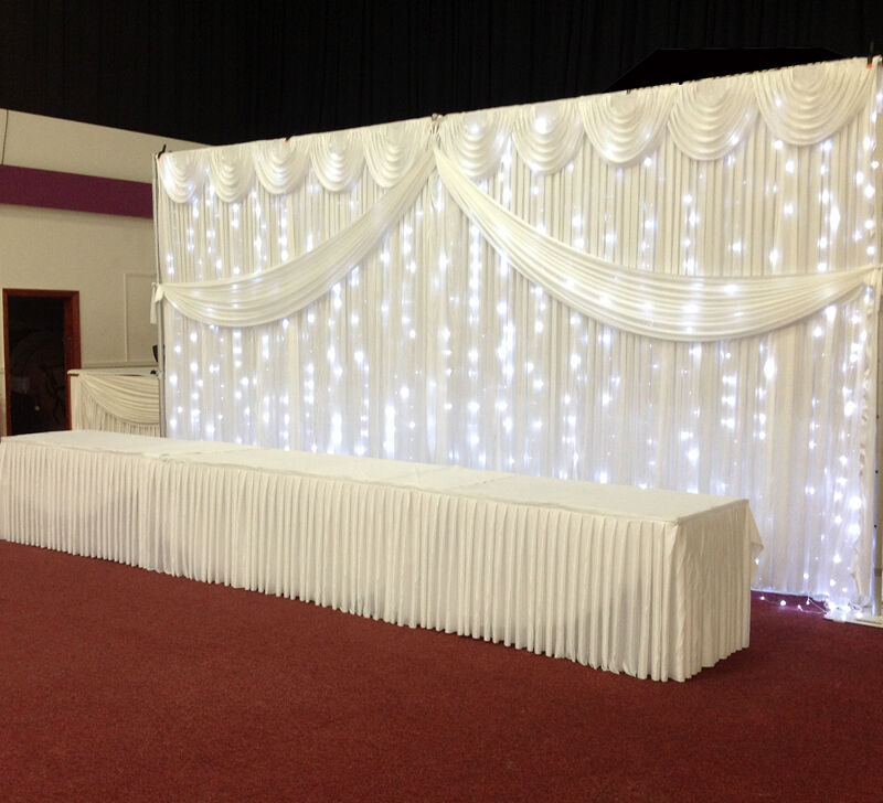 Butterfly Wedding Backdrop Curtain With Swag For SALE