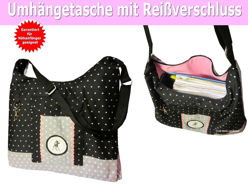 n hanleitung tasche mia tasche selber n hen f r anf nger mit schnittmuster ebay. Black Bedroom Furniture Sets. Home Design Ideas