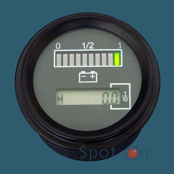 Dc Volt Hour Meter : Quot volt battery indicator with hour meter gauge tri