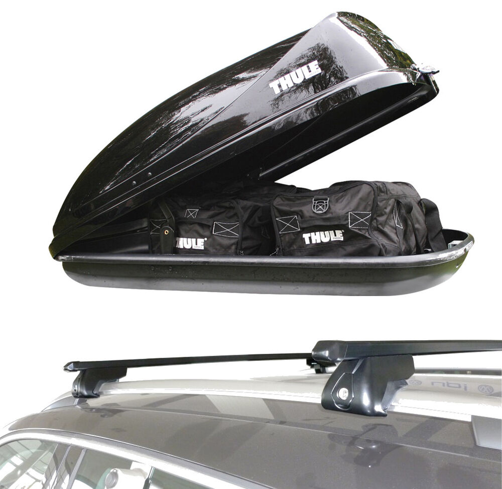 Roof Rack Rail Bars & Thule Car Roof Box Volvo V40 V50 V90 ...