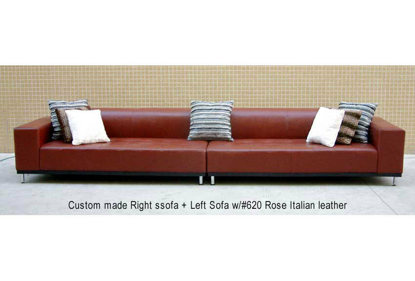 164 w new modern euro design red leather sofa s4709c ebay for Sofa 99 euro