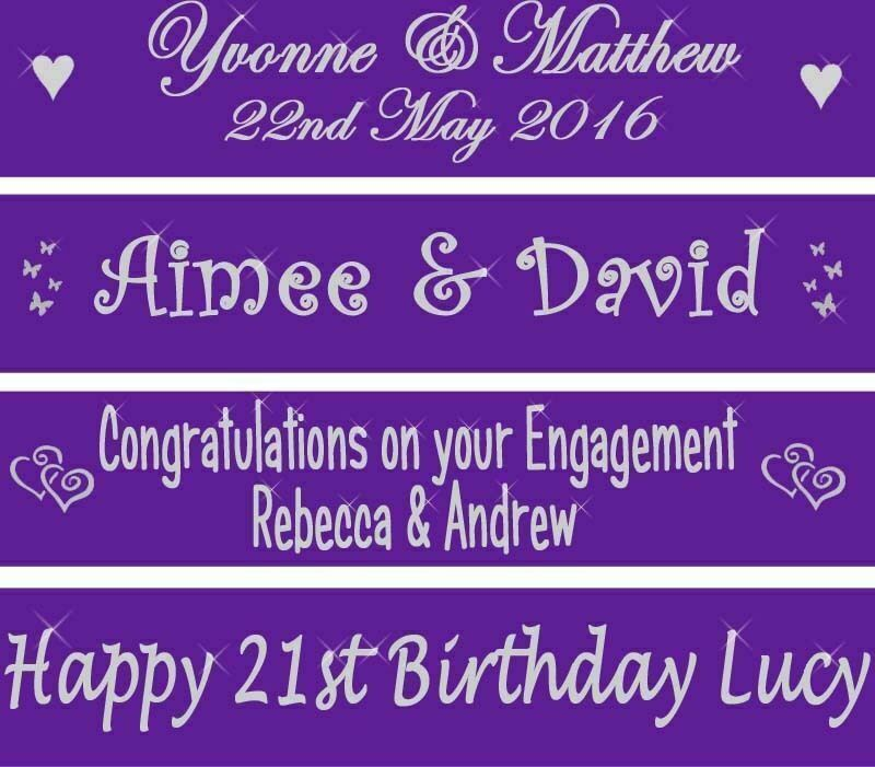cadbury purple wedding banner engagement party personalised birthday decorations ebay