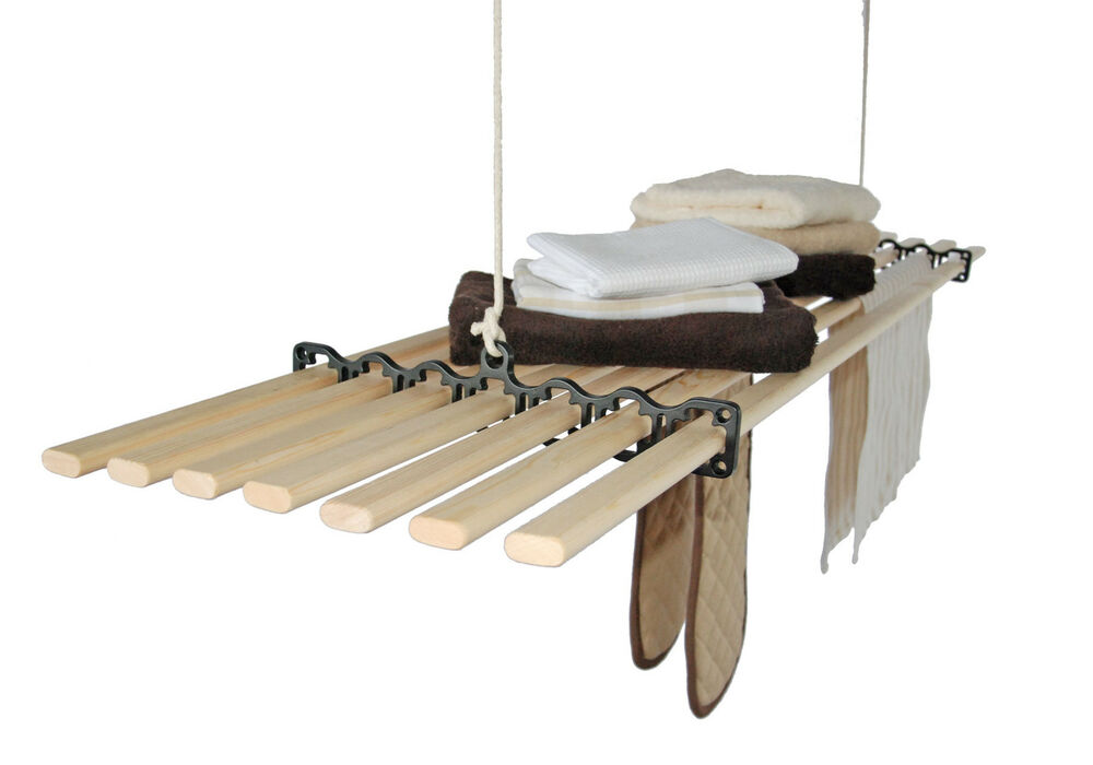 7 Lath Gismo Pulley Kitchen Maid Clothes Airer Hanging