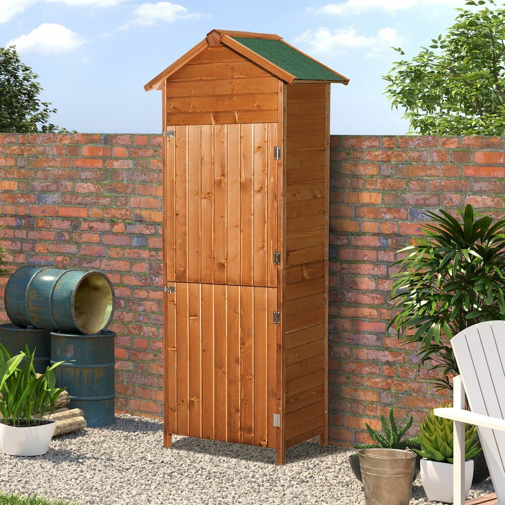 New wooden garden shed apex sheds tool storage cabinet for Outdoor wood shed