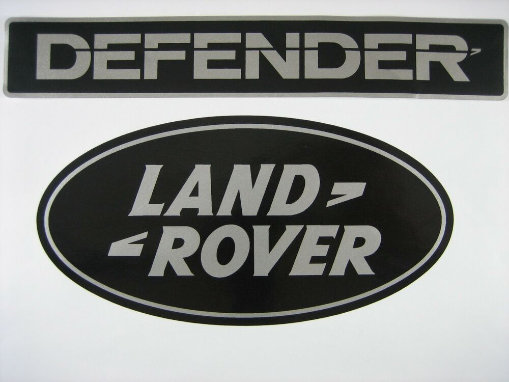 Land Rover Defender 90 110 Front And Rear Logo Name Decal Tape Set