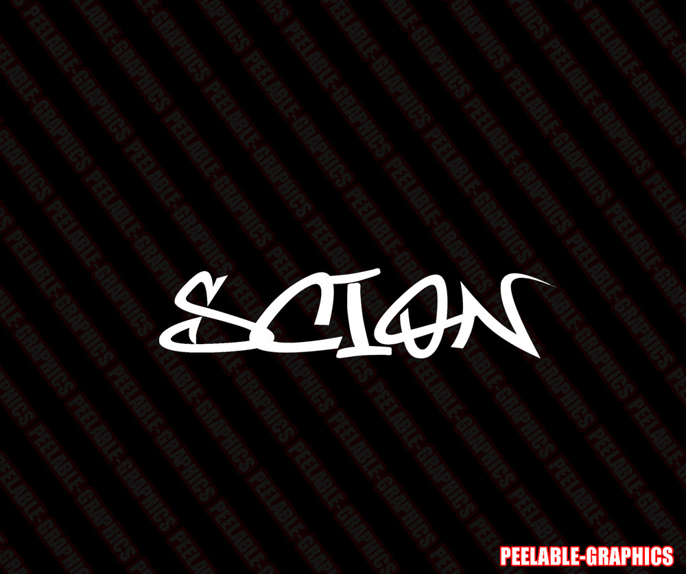 Scion Graffiti Decal Vinyl Sticker Race Toyota Trd Xb Tc