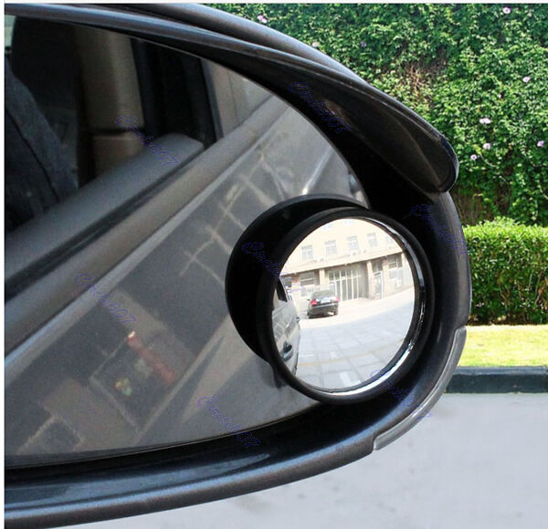 Car Vehicle 2pcs Driver Wide Angle Round Convex Mirror