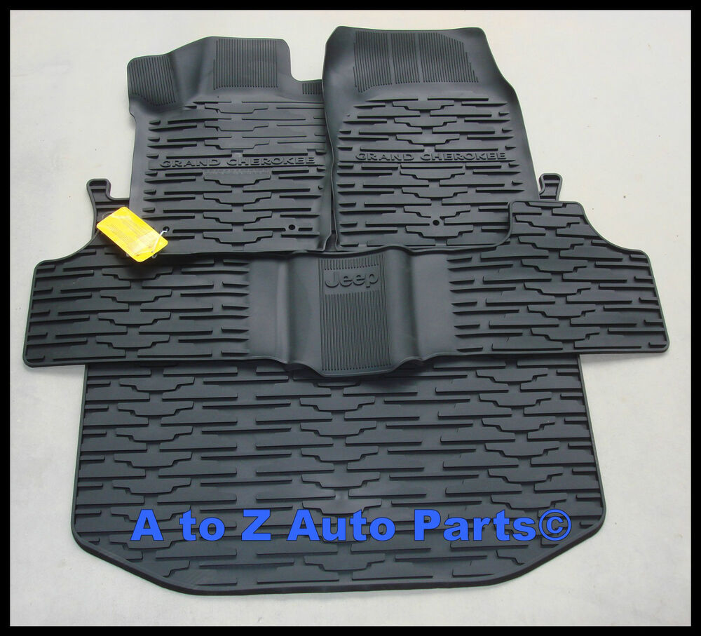 2011 2012 Jeep Grand Cherokee Rubber Slush Floor Mats And