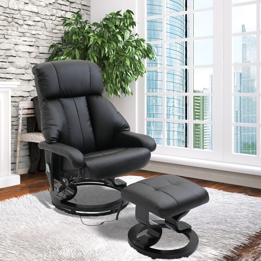 Fuax leather Electric Massage Recliner Chair Sofa Foot ...