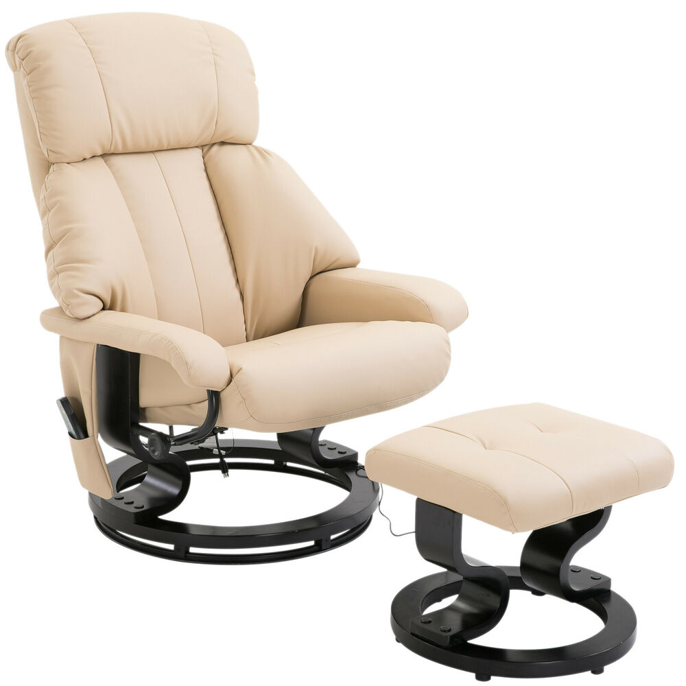 New Electric Heated Massage Sofa Chair With Footrest In