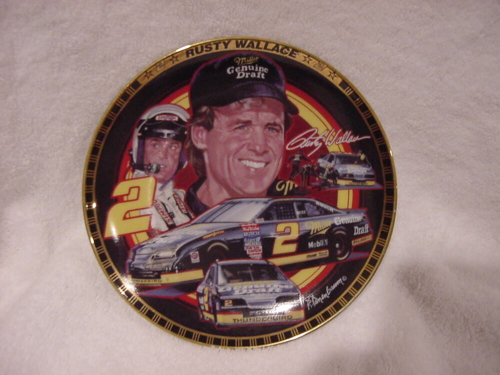 beautiful rusty wallace sports impressions hamilton collection plate nice ebay. Black Bedroom Furniture Sets. Home Design Ideas