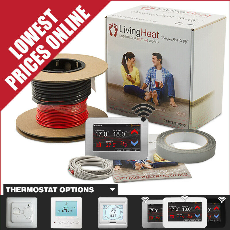 Underfloor Heating Cable Kit With Thermostat Option For