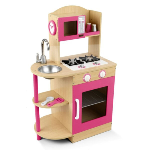 KidKraft Modern Pink Wooden Kitchen Girls/Kids Play Set