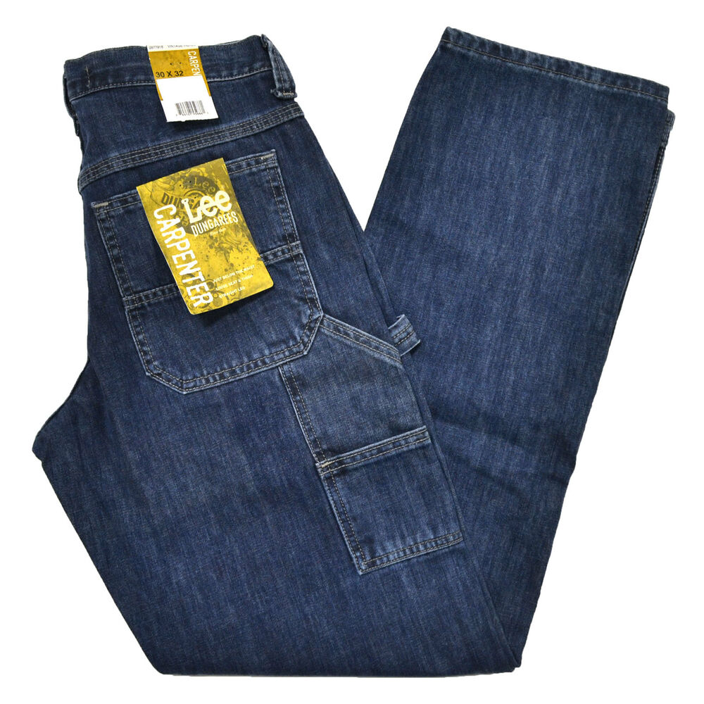 lee dungarees carpenter fit mens jeans vintage indigo denim jean 30 32 34 36 38 ebay. Black Bedroom Furniture Sets. Home Design Ideas