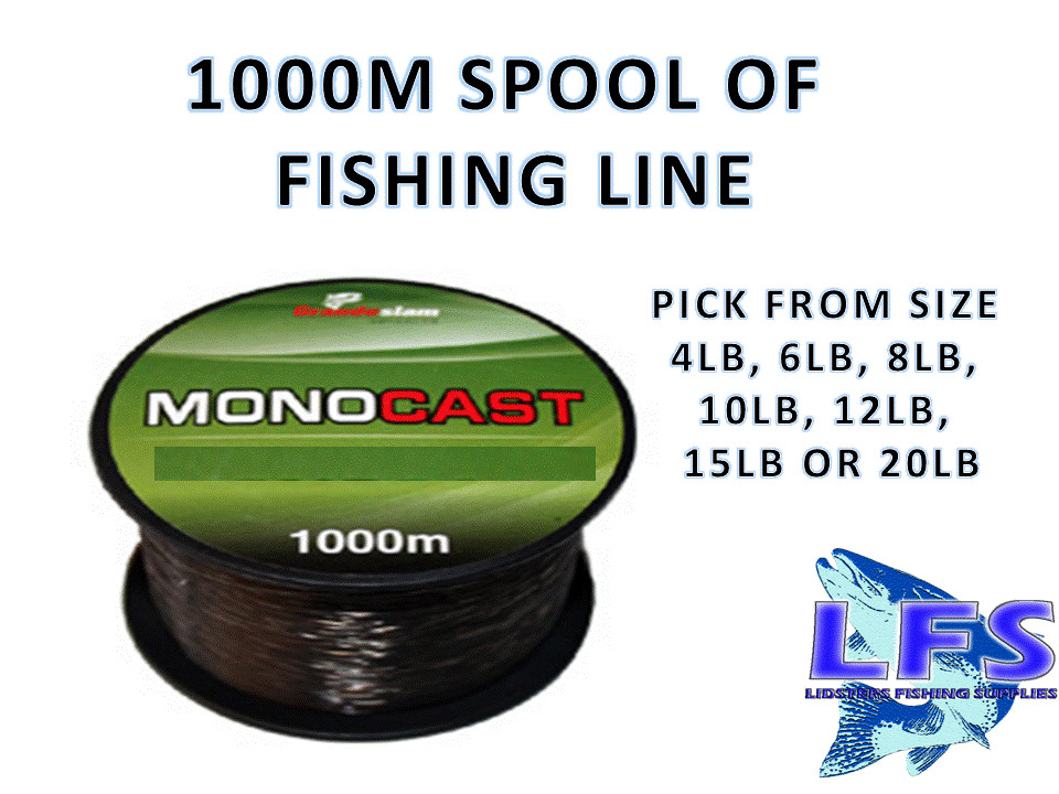 1000m bulk spool fishing line 4lb 6lb 8lb 10lb 12lb for Where to buy fishing line