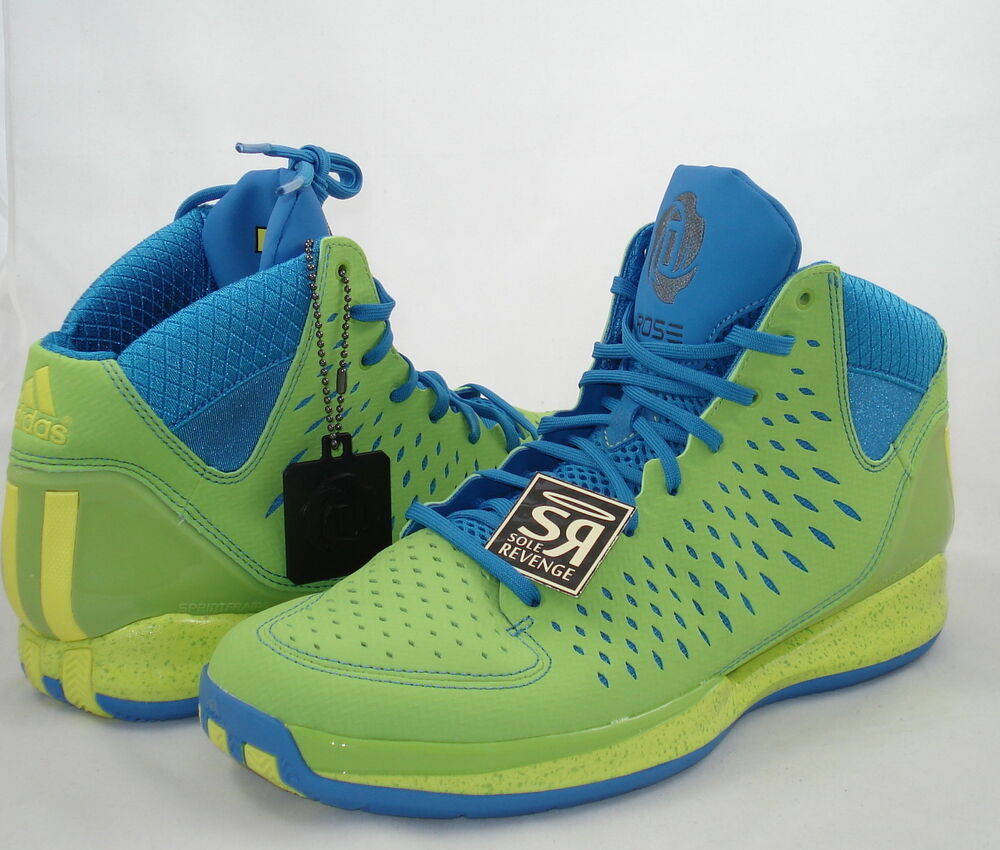 big sale 3cb0a 600bb Details about New Adidas adizero Derrick ROSE 3 SOUTH SIDE FRESH PRINCE  Shoes Green G66387