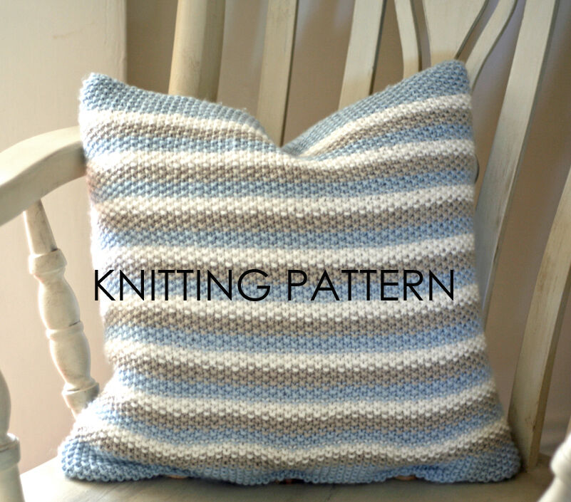 Free Cushion Cover Knitting Patterns : KNITTING PATTERN/INSTRUCTIONS - SASHA ARAN SEED STITCH CUSHION eBay