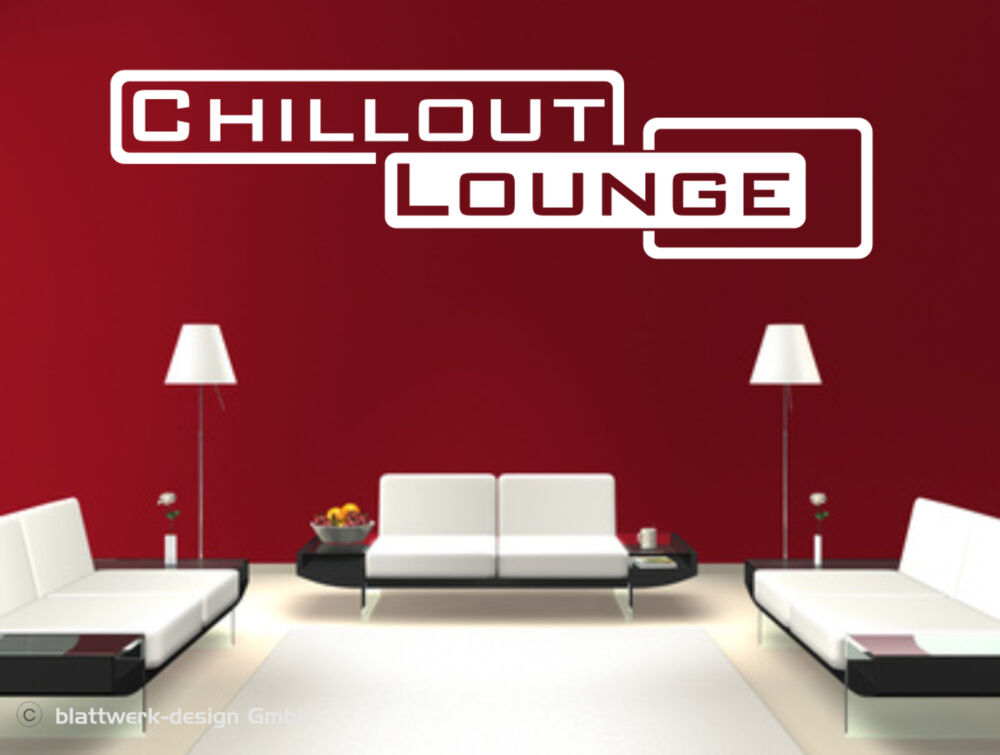 wandaufkleber wandtattoo der bereich zum wohlf hlen chillout lounge ebay. Black Bedroom Furniture Sets. Home Design Ideas