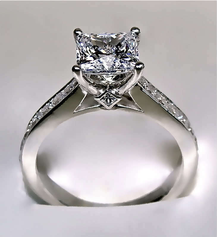 2 64 ct princess cut engagement ring 14k solid gold ebay