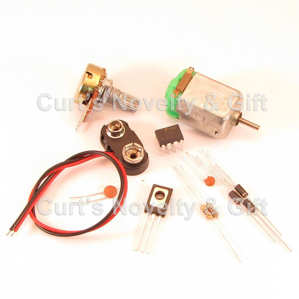 Electric Motor Project Kit: DIY BREADBOARD DC SPEED CONTROL W/MOTOR ELECTRONIC PROJECT
