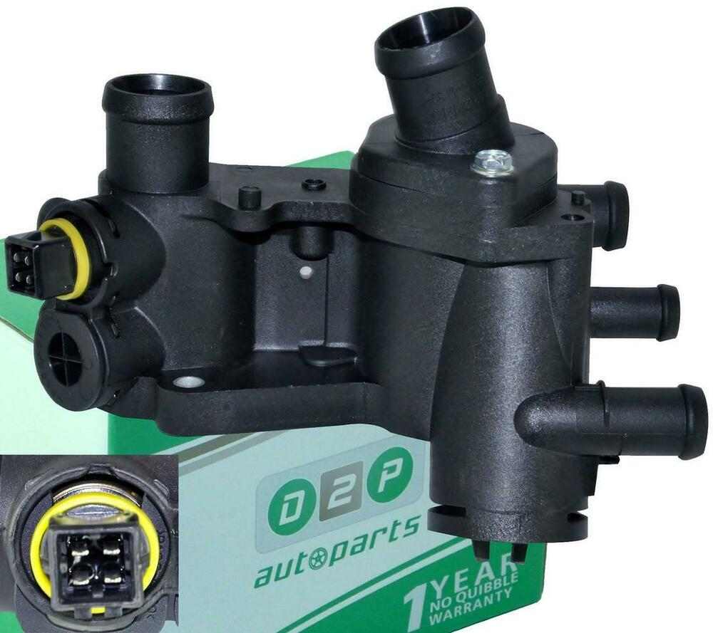 for vw golf mk3 1 4 1 6 thermostat housing coolant sensor 032121111n ebay. Black Bedroom Furniture Sets. Home Design Ideas
