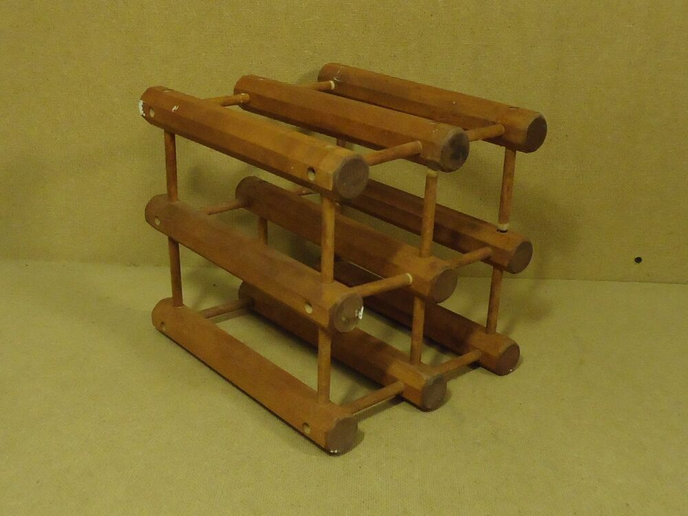 Custom made wine rack 11in x 10in x 10in lighttone stain solid wood
