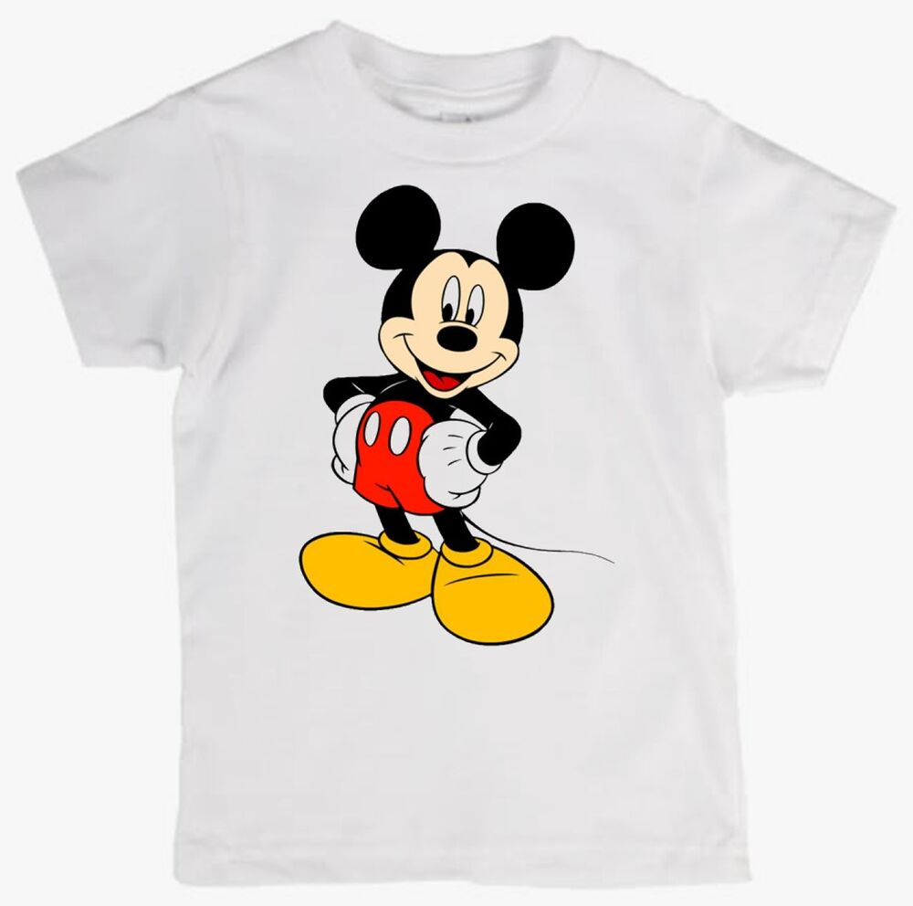 children 39 s tee shirt featuring mickey mouse quality cotton. Black Bedroom Furniture Sets. Home Design Ideas