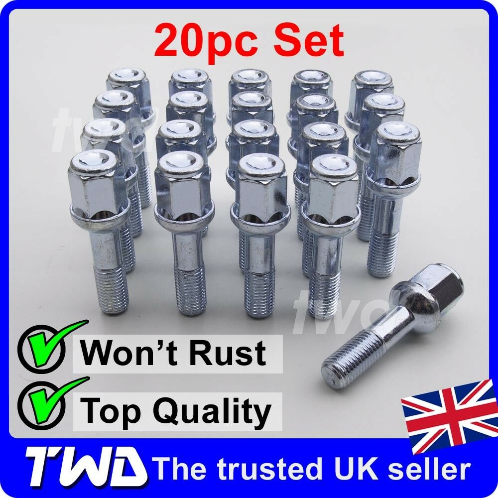 20 x alloy wheel bolts for mercedes benz e class w124 Mercedes benz wheel nuts