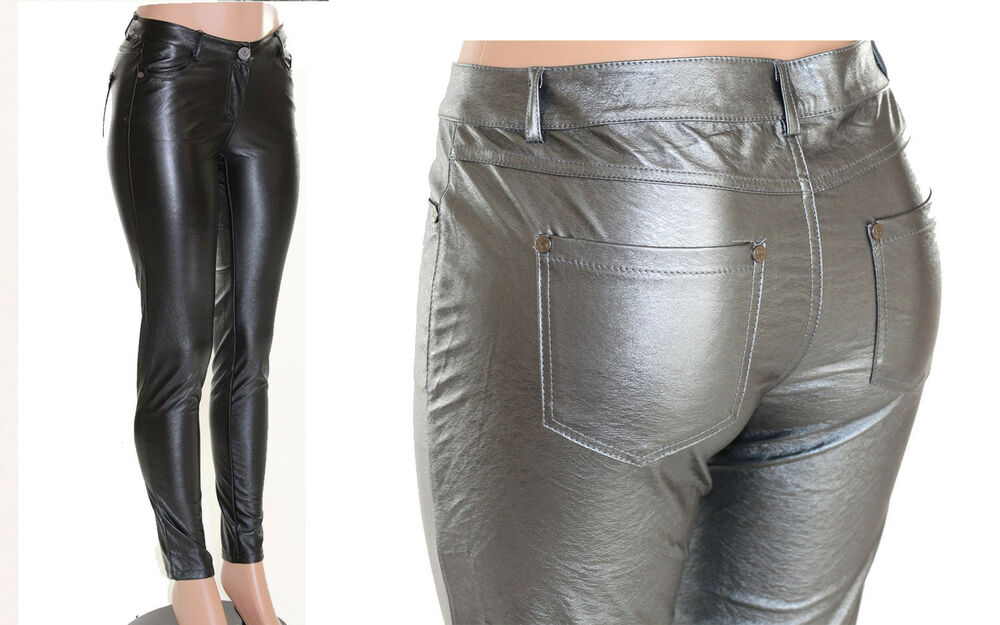 New old stock, black leather pants by Wrangler. Measurements: waist - 28
