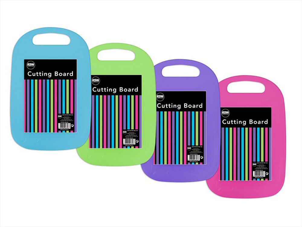 Plastic Chopping Boards Vibrant Colour Various Kitchen