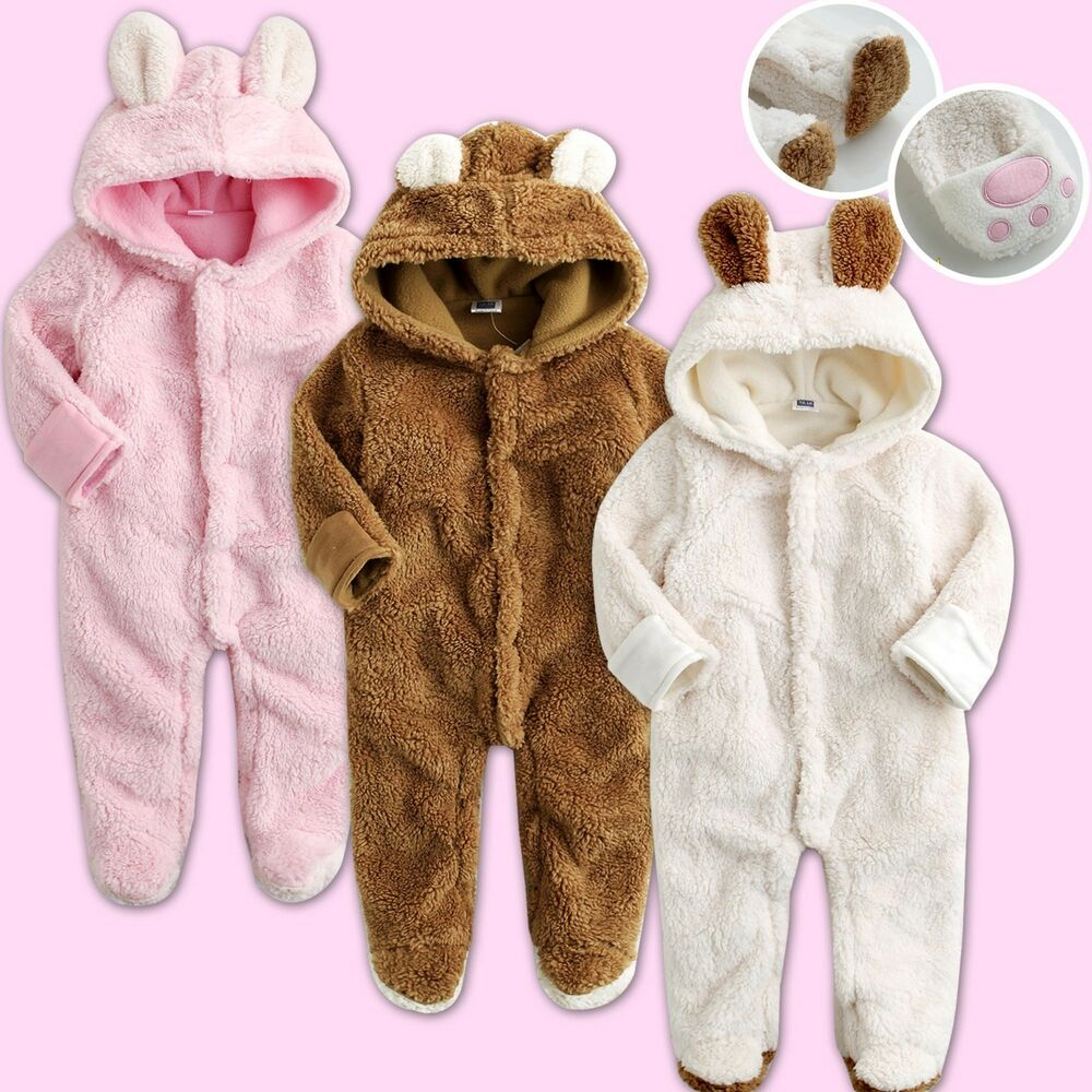 vaenait baby winter snowsuit fleece hoodie jumpsuit outwear cozy