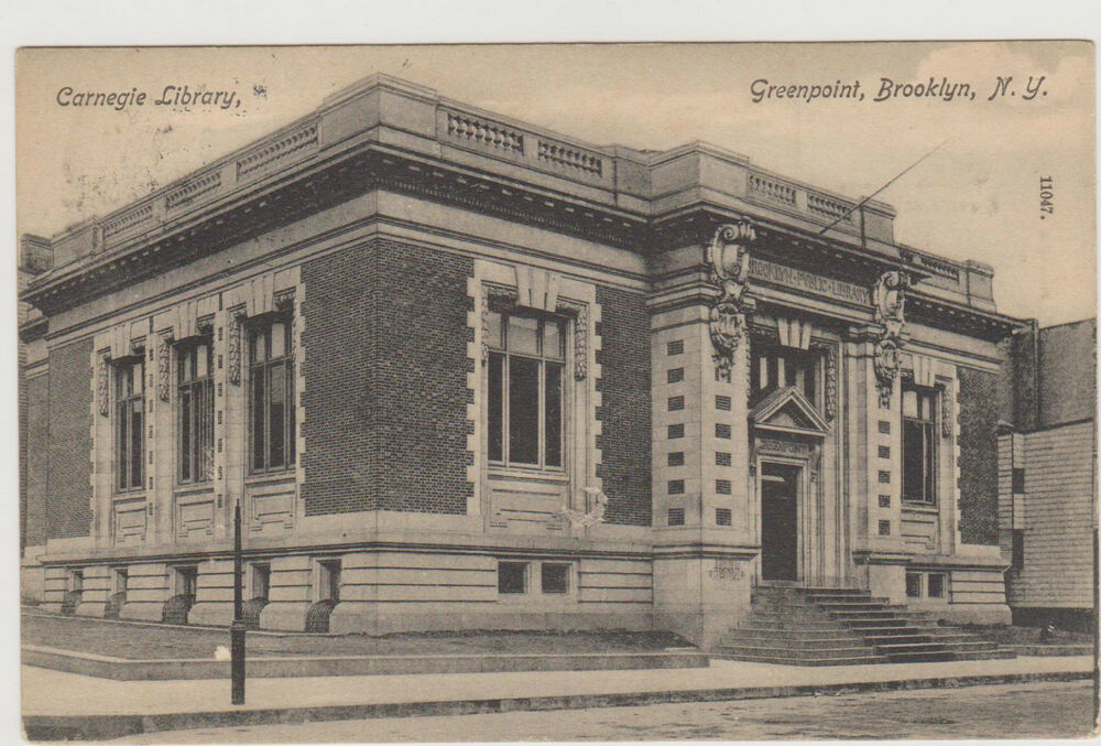 GREENPOINT BROOKLYN ANDREW CARNEGIE LIBRARY, NYC | eBay Andrew Carnegie Library