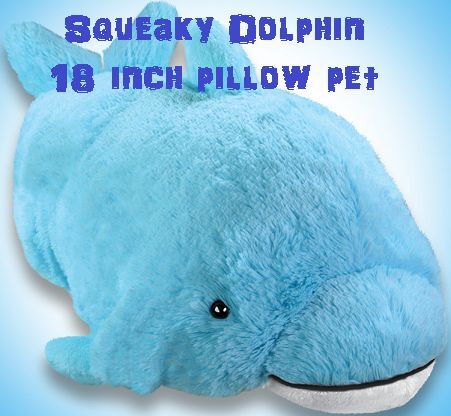 Animal Pillow Case As Seen On Tv : My Pillow Pets Squeaky Dolphin Large 18